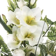 Todos los santos. ramo artificial flores rosas gladiolos azucenas blanco 68 en la llimona home (1)