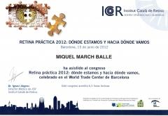 Diploma congreso retina pr�ctica. icr. junio 2012. barcelona.