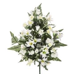 Todos los santos. ramo artificial flores liliums rosas crema 60 en la llimona home