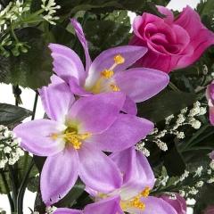 Todos los santos. ramo artificial flores liliums rosas lavanda 60 en la llimona home (1)