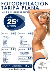 depilbody tarifa precios 2012/13