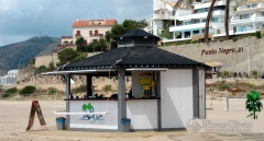 Chiringuito hexagonal de 20 m2 desmontable mod. calypso. navarrolivier.com