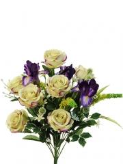 Flores artificiales santos. ramo flores artificiales rosas iris purpura oasisdecor.com