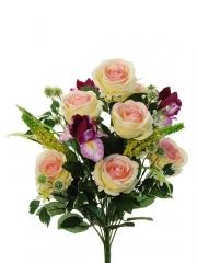 Flores artificiales santos. ramo flores artificiales rosas iris rosa oasisdecor.com