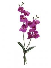 Flores artificiales. orquidea phalaenopsis artificial peque�a con hojas fucsia oasisdecor.com
