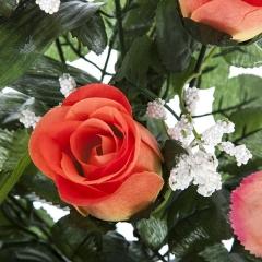Todos los santos. ramo artificial flores alstroemerias rosas salm�n en la llimona home (1)