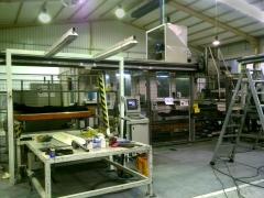 Translado de instalaci�n industrial para fabricaci�n de guarniciones de turismos.