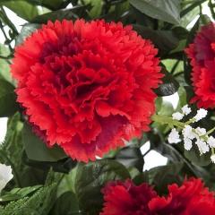 Todos los santos. ramo artificial flores claveles rojos 48 en la llimona home (2)
