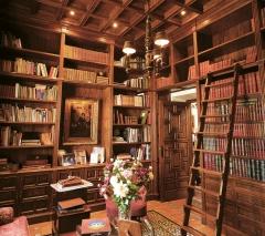 Biblioteca de madera. ebanistería arenas. fabricacion a medida de creaciones exclusivas en madera.