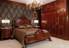 Dormitorio clásico. ebanistería arenas. fabricacion a medida de creaciones exclusivas en madera.