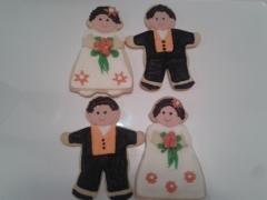 Galletitas decoradas para regalar en vuestra boda, las personalizamos a vuestro gusto.