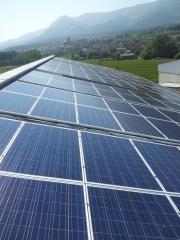 Instalaci�n solar con estructura 2d