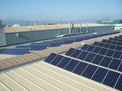 Instalación solar sobre nave 2 aguas