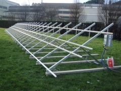 Montaje de estructura sobre suelo