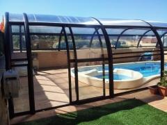 Cubiertas de piscina, transparente fija