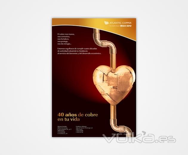 Propuesta de Imagen Gráfica para el 40 Aniversario de Atlantic Copper.
