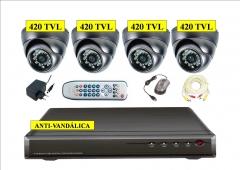 Kit 4 camaras antivandálicas 420tvl + videograbador 500gb desde 400eur l.o.p.d. gratis