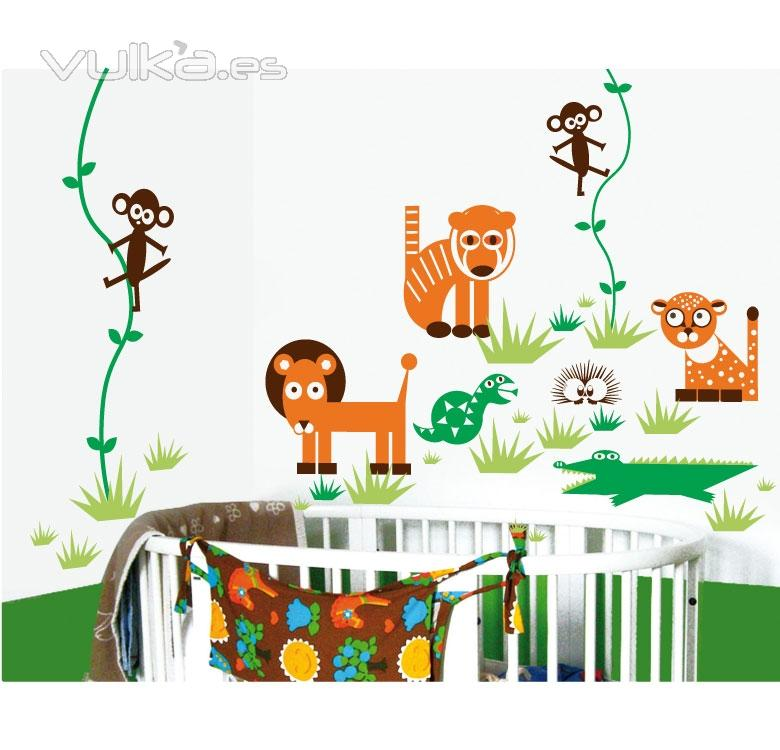 Foto vinilos animales adhesivos infantiles deocracion for Pegatinas vinilos infantiles