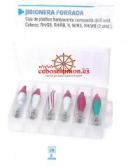 Www.ceboseltimon.es - jibionera forrada caja de pl�stico transparente compuesta de 6 unid - colores: