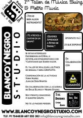 Taller de musica swing blanco y negro studio the dominos swing. crazy lindy hop, balboa in madrid.