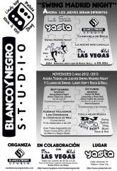 Novedades blanco y negro studio 2012 -13. crazy swing, balboa in madrid.