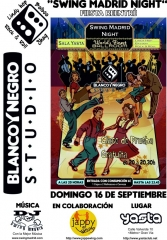 Fiesta de inaguraci�n del nuevo curso de blanco y negro studio. crazy swing, balboa in madrid.