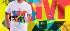 Estampaci�n camisetas mediante serigraf�a o vinilo textil.