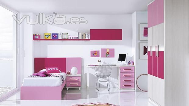 Foto dormitorio juvenil moderno combinado los muebles en for Muebles juveniles modernos