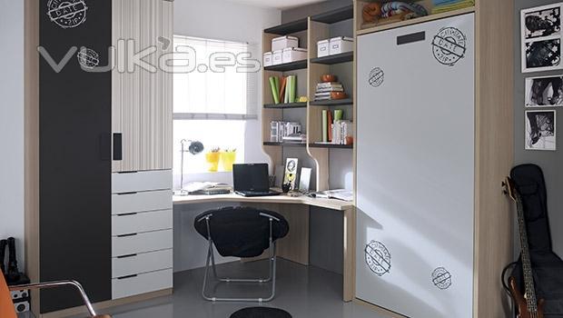 Foto dormitorios juveniles con vinilos decorativos en las for Vinilos decorativos dormitorios juveniles