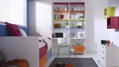 Dormitorio juvenil combinado con colores calidos