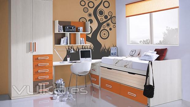 Foto cama compacto para habitacion juvenil del catalogo for Mueble compacto juvenil