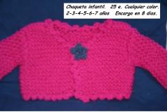 Chaqueta infantil de punto en lana rustica. todos colores y tallas.