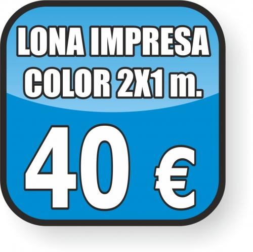 Impresión lona color 2x1 m. Oferta
