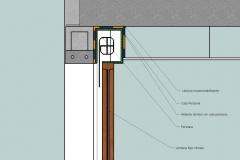 Detalle constructivo de encuentro de ventana con persiana y doble pared exterior. 2d (2)