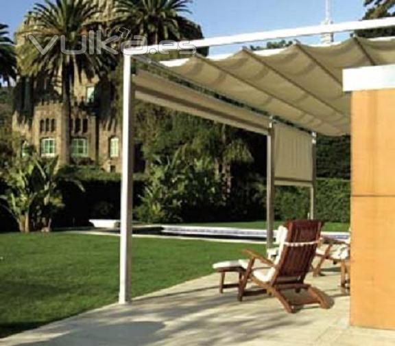 Foto toldo entreparedes o plano para su patio for Imagenes de toldos