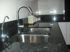 Encimera de cocina de granito negro angola