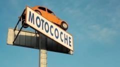 Emblema de motocoche - vw escarabajo naranja, emblema de nuestra empresa