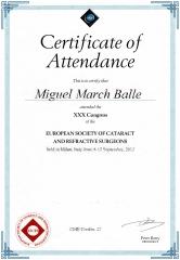 Diploma congreso e.s.c.r.s. sept. 2012. mil�n. italia.