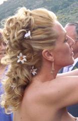 Dia de la boda:recogido maquillajey ampolla flash 90eur