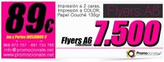 7500 flyers a6 x solo 89eur. flyers baratos promocionate.net
