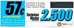 2500 Tarjetas de visita x solo 57EUR. Tarjetas de visita Baratas Promocionate.net