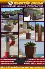 Especialistas en mobiliario urbano personalizado: Jardineras, bancos,bolardos,papeleras,fuentes