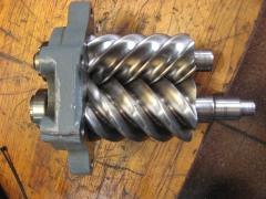 Sistema de tornillo de un compresor.