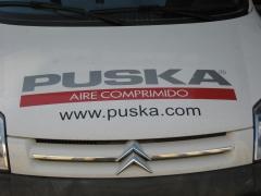 Rotulacion vehiculo sat puska aire comprimido.