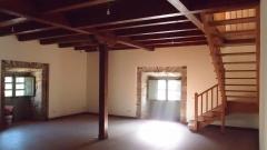 Forjado de madera visto en la rehabilitacion del palacio de arganza