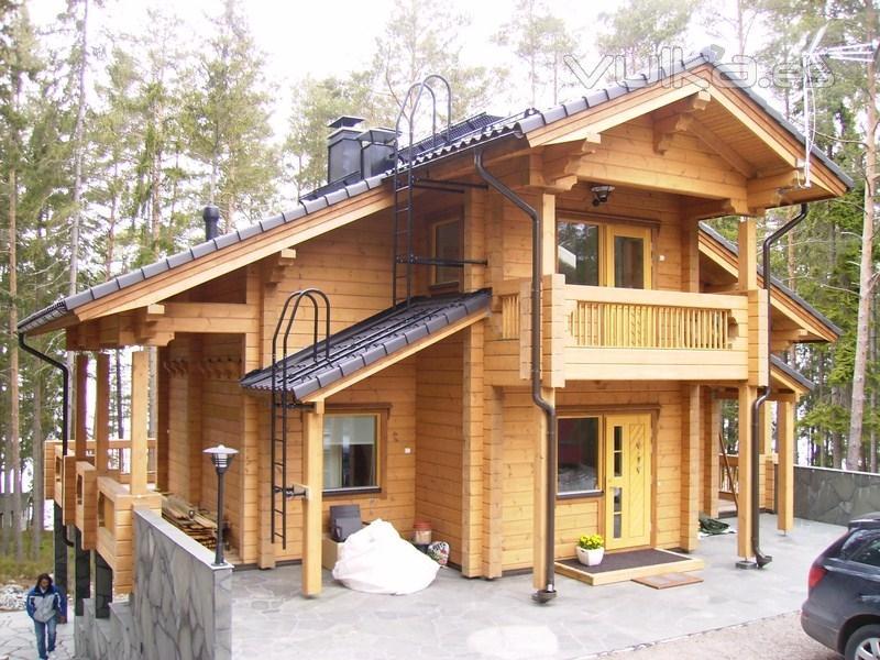 Foto casa de madera estilo nordico for Casas estilo nordico