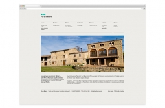 P�gina web casa rural pla de besora.