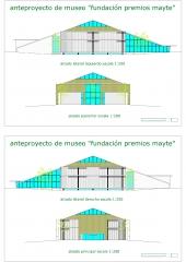 proyecto museo de las arttes - alzados