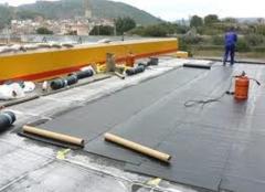 Impermeabilizaci�n de cubierta con l�mina pvc