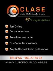Autoescuela clase, test online, cursos intentivos, aula virtual. permiso b.